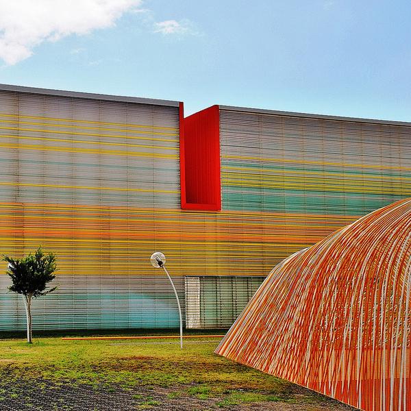 """THE BATEL"" AUDITORIUM AND CONVENTION CENTRE IN CARTAGENA #spain #colour #architecture"