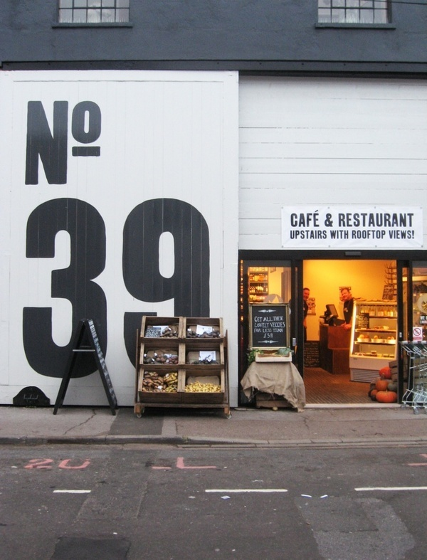 no. 39 cafe & restaurant #cafe #architecture #typography