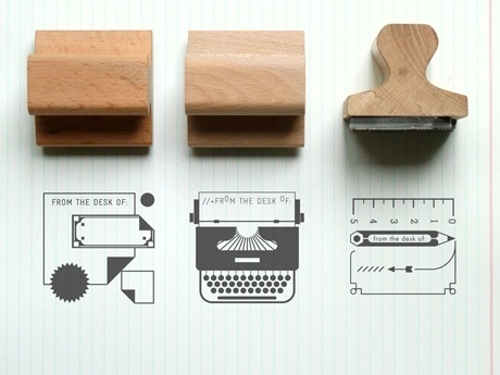Present&Correct - Desk Rubber Stamps #stamp