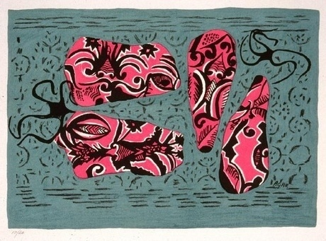 Shrimps at Sea – Collection | Christchurch Art Gallery Te Puna O Waiwhetu #lithography