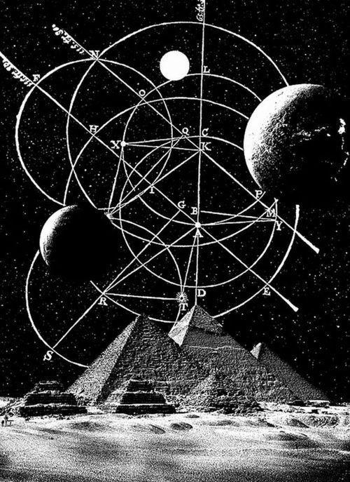 alignment #pyramids #stars #space