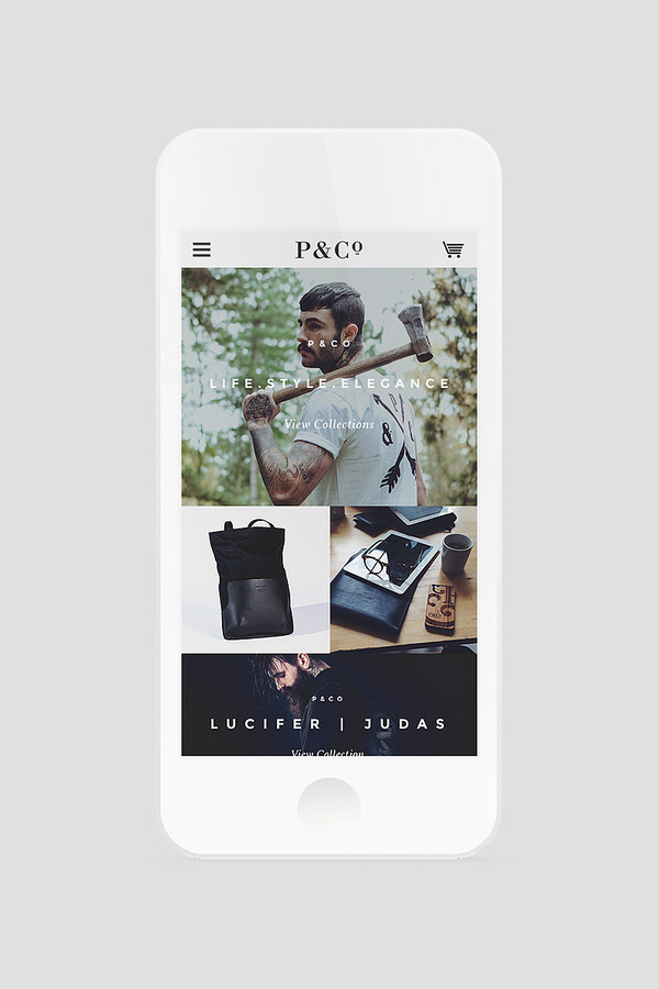 P&Co Clothing | Digital Design Agency | adaptable. #clothing #website #digital #mobile #fashion #web