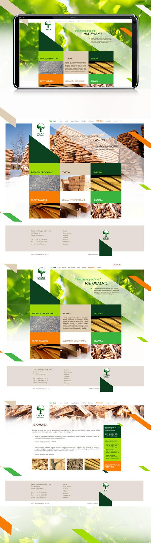 www.laccy.pl on Behance #lumber #sawmill #website #wood #web #www
