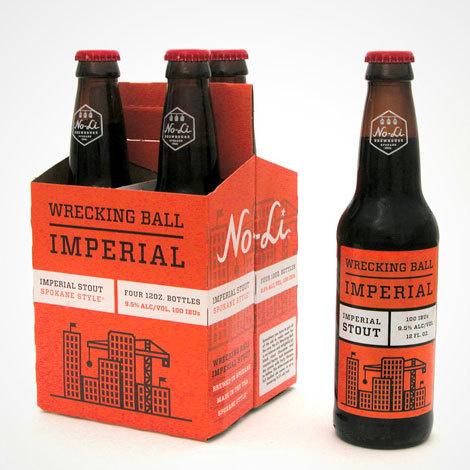No-Li Wrecking Ball Packaging #packaging #beer #label