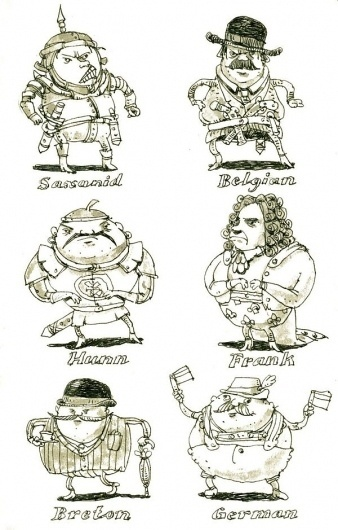 Santas, barbarians, characters and all the usual stuff on the Behance Network #mattias #adolfsson #illustration #drawn #sketches #hand #characters