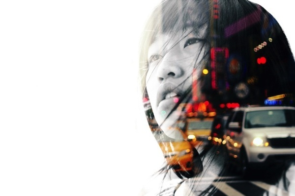 design etc. — cosascool: Julia Wang #photography #double #exposure #people