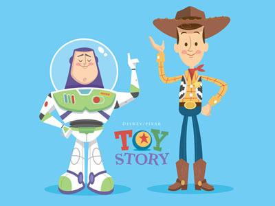Woodybuzz #retro #illustration #pixar #toy #story