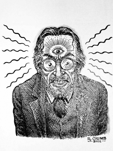 Phawker » Blog Archive » R. CRUMB: 'Minds Are Made To Be Blown' #robert #comix #book #comic #illustration #crumb