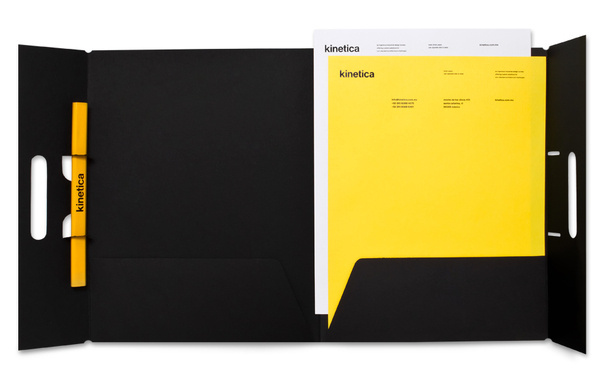 Kinetica — Design by Face. #print #letterhead #folder