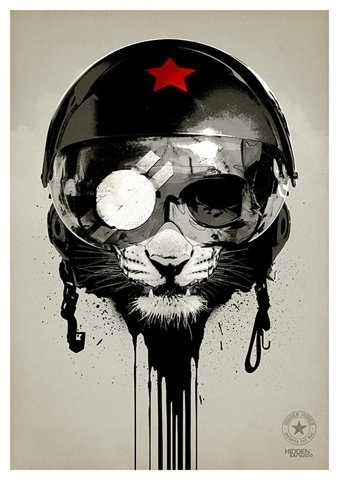 FFFFOUND! | Blog - thirtythr33.de - The Portfolio of Sebastian Bentler #cat #painting #military