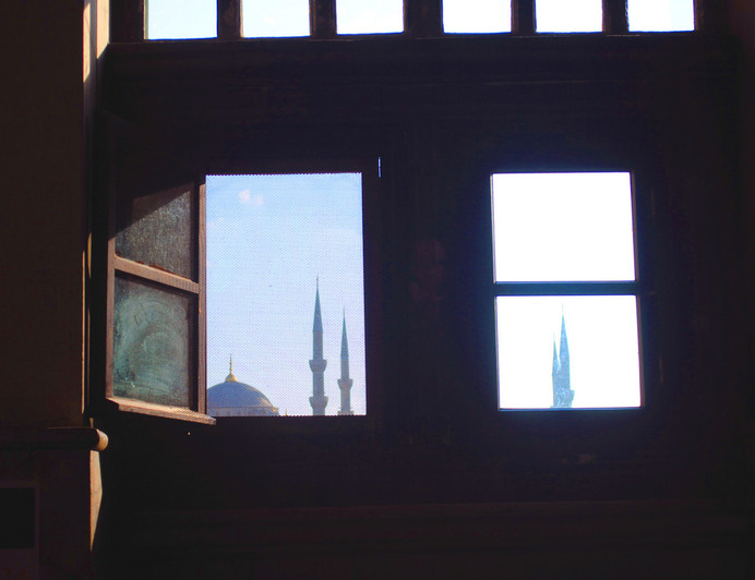 Istanbul light in aya sofia | Flickr - David Walby #turkey #minaret #aya #walby #istanbul #photography #sofia #window #mosque #david #light #wall-b