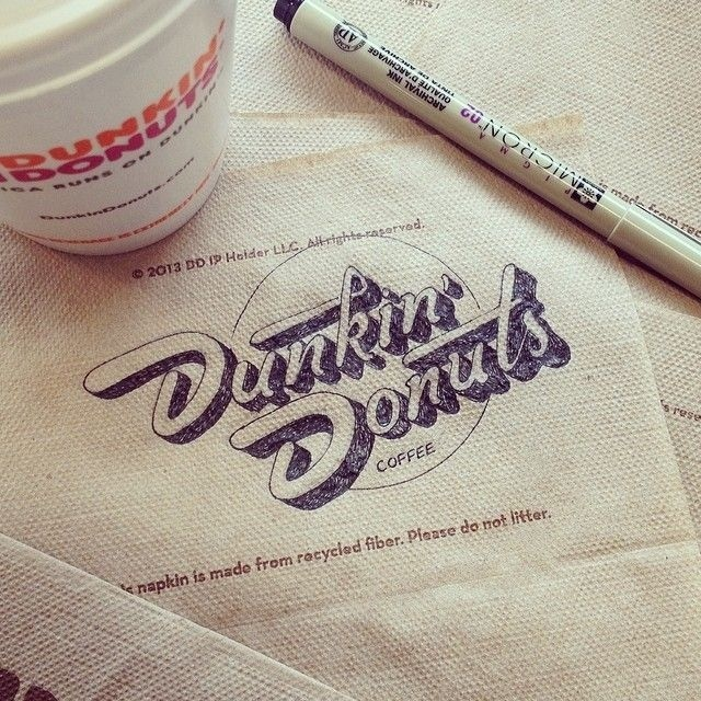 Dunkin donuts #inspiration #lettering #identity #hand #typography