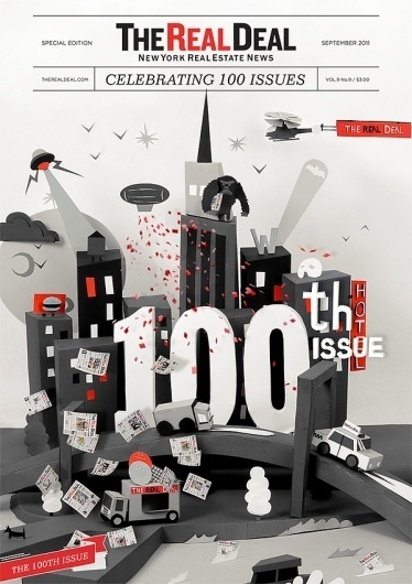 The Real Deal 100th Issue Cover on the Behance Network #design #magazine #issue