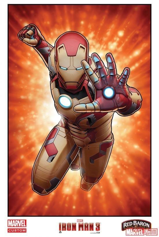 Marvel Offers Five Limited Edition IRON MAN 3 Posters Via Red Baron Partnership #super #stark #iron #comic #hero #illustration #avengers #poster #marvel #man