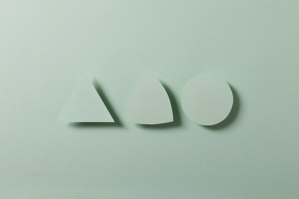 Paper & Shadow on the Behance Network #origami #paper #mint #shadow