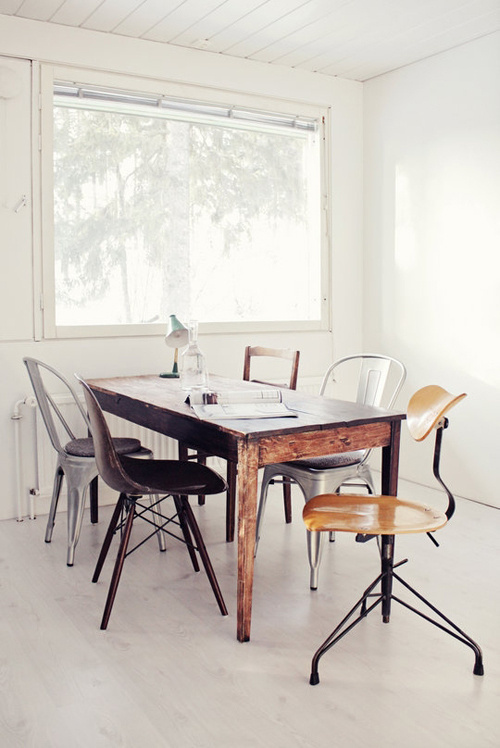 Arturo Mata #interior #chairs #wood #furniture #table