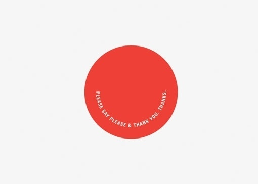 design work life » cataloging inspiration daily #circle #manners #minimal #typography