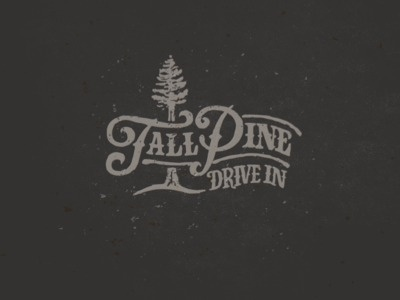 small mountain town dinner #logo #type #hand #typography