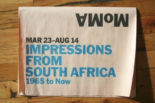 MoMA Hits the Streets With Newsprint #newsprint #design #graphic #publication #moma