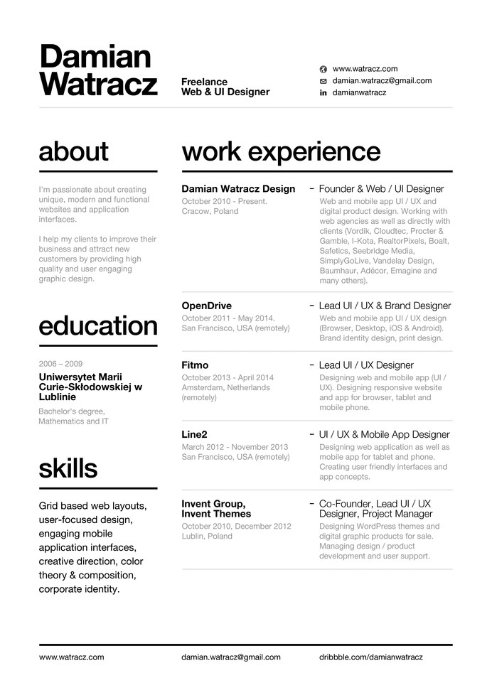 best resume swiss style 2014 damian images on designspiration