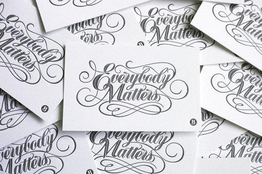 Bryan Patrick Todd: Everybody Matters Mural #script #mural #business #card #typography