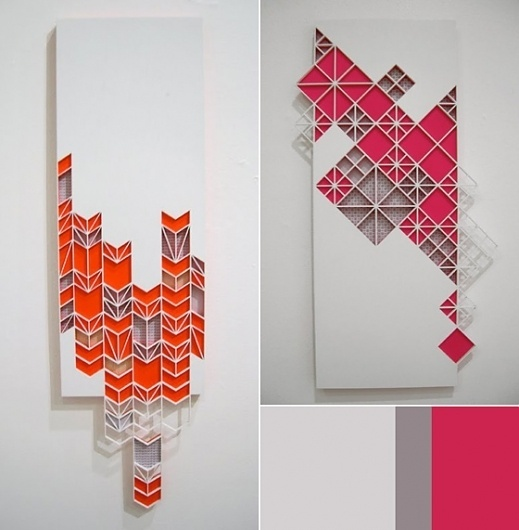 Craft Blog / Women On The Wavelength: Sandra Fettingis - Inspiration by COLOURlovers :: COLOURlovers #handcraft #geometric #ilusteation