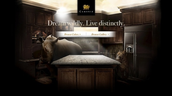 Cambria: Every Dream Leads You Somewhere | space150 work – space150.com #interior #wild #photo #design #kitchen #animal