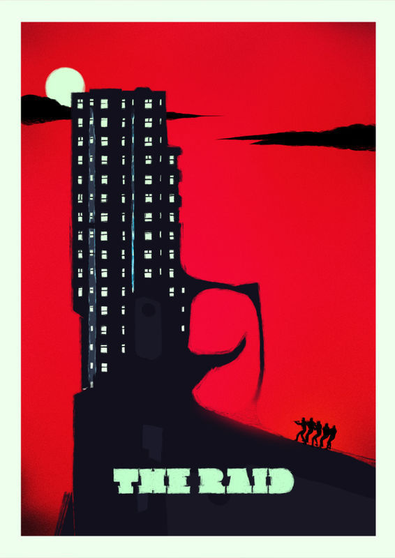 THE RAID (VARIANT RED) product images of #movie #malatesta #raid #rocco #the #poster
