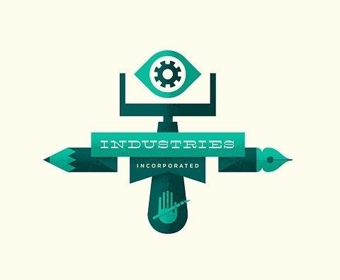 FFFFOUND!   Flickr Photo Download: Industries Incorporated #logo #print