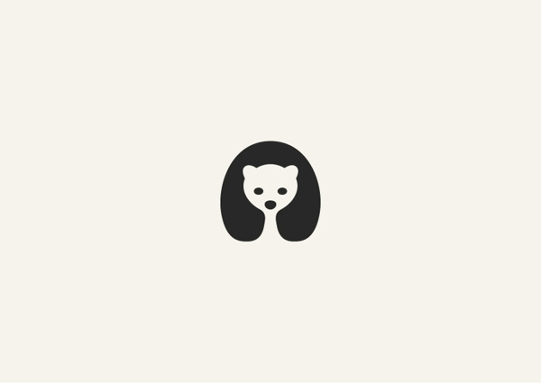 Adorable Negative Space Animal Logos DesignTAXI.com #logo