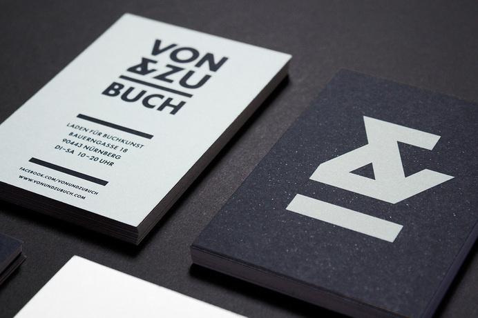 VON & ZU BUCH Book Shop Logo - www.philippzm.com #branding #shop #flyer #book #store #ampersand #identity #logo