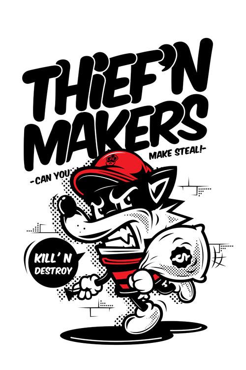 thief makers #vector #design #tshirt #illustration #character
