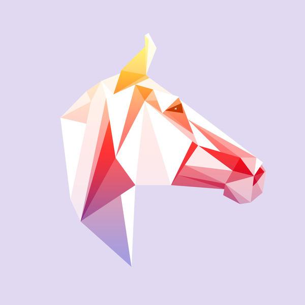 Geometrical Horse Art Print #triangle #horse