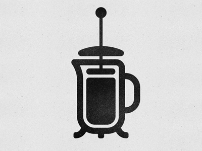 Dribbble - French Press Icon by Nicholas Petersen #icon #logo #press #french