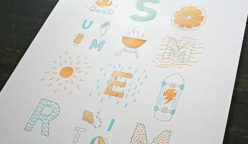 SOF_Summertime_07 #summer #letterpress #poster