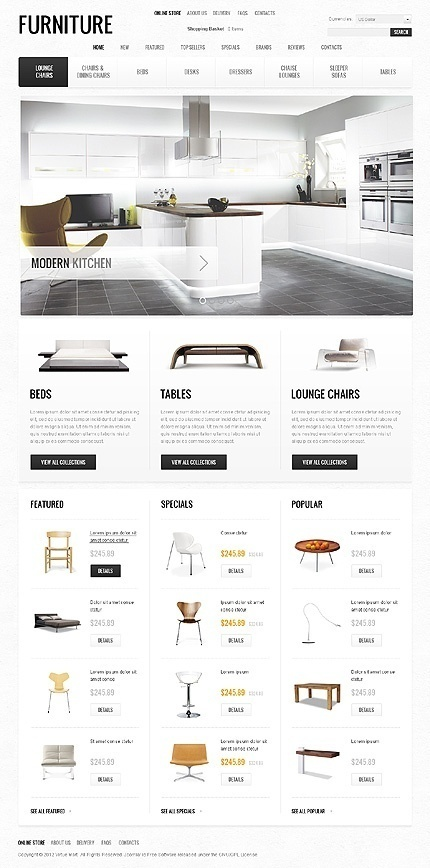 UX/UI/design / Furniture #design #website #ecommerce #furniture #layout #web