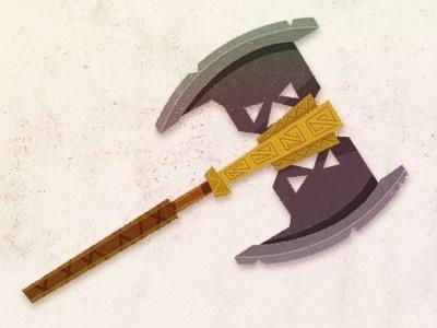 Axe - Rogie #fantasy #vector #weapon #illustration #magic #axe #gimli
