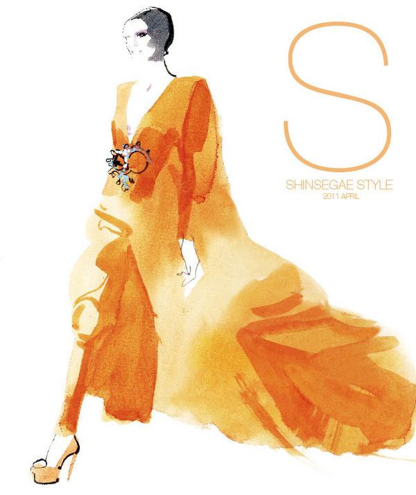shinsegae style korea david downton #downton #cover #illustration #fashion #watercolor #david #magazine