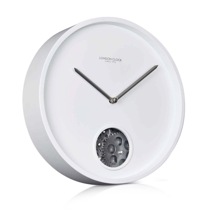 London Clock Company 'Precision' Wall Clock, White, 30cm x 5.5cm