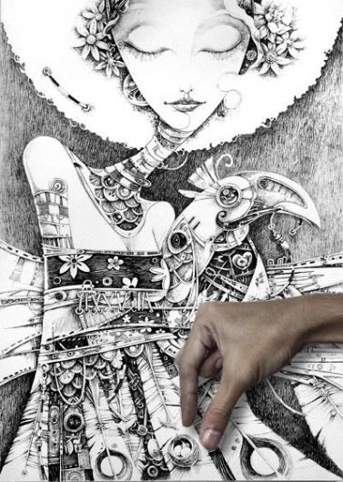 illustration served