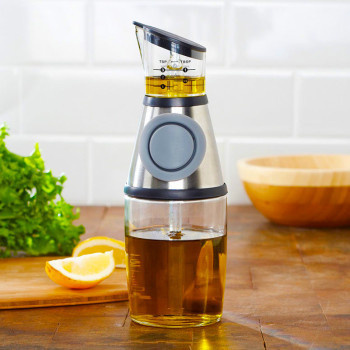 Never overboard on any dressing again with the Press 'n Measure Dispenser. #lifestyle #design #home #product #industrial #kitchen