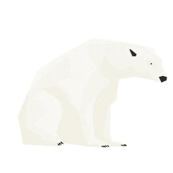 Mr Polar Bear - Hadrien Degay Delpeuch #polar #vector #illustration #gif #bear #animal