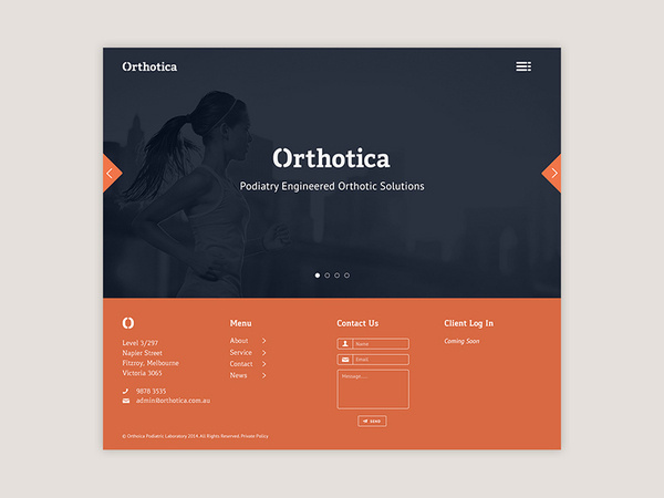 Orthotica Landing Page #getty #ceros