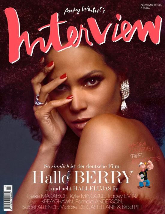 neonfix - hair - make up - style: Halle Berry for Interview Mag #andy #interview #halle #warhol #berry #brush