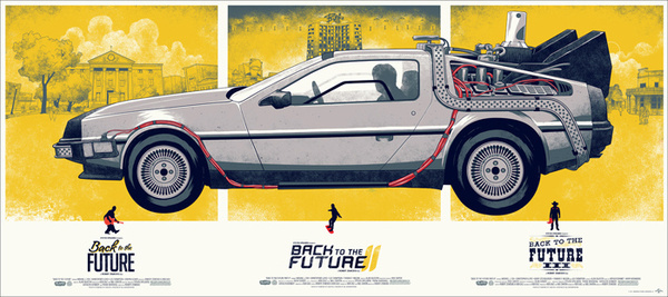Mondo: The Archive | Phantom City Creative Back to the Future Variant, 2012 #movie #poster