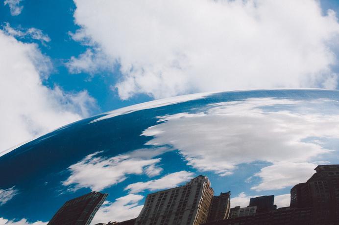 Cloud Gate - Anish Kapoor, Millennium Park#clouds #chicago #cloud #cityscape #city #gate #chi #kapoor #chitown #dreams #blue #vineshk #anish