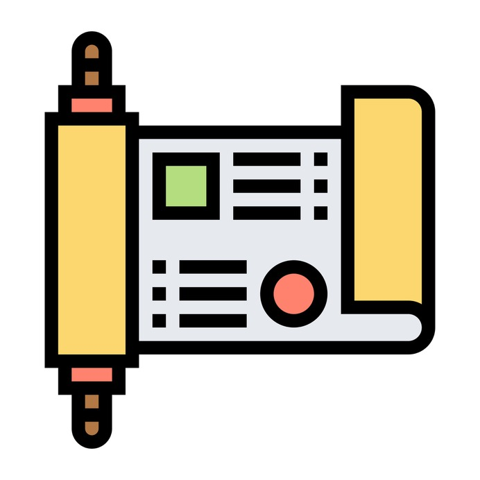 See more icon inspiration related to letter, scroll, parchment, old paper, files and folders, cultures, old scroll, ancient scroll, history and paper on Flaticon.