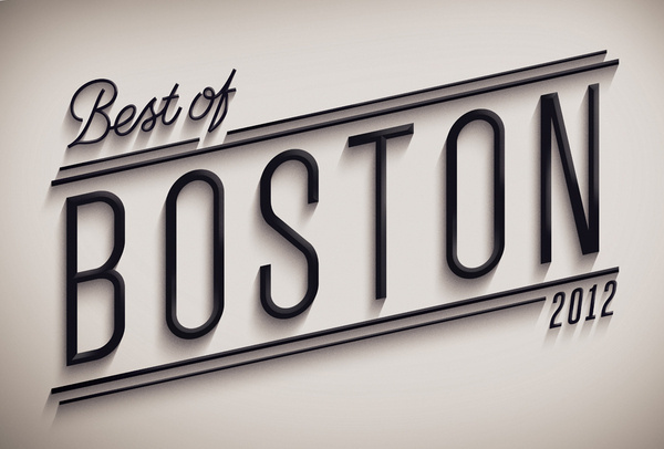Best of Boston 2012 on the Behance Network #type #design #3d
