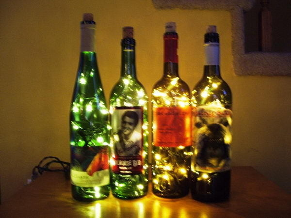 Homemade Wine Bottle Crafts #diy #craft #wine #bottle