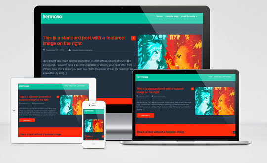 Hermoso : Free Responsive and Colorful Wordpress Theme for Personal Blog #wordpress #theme